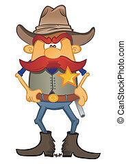 portrait, shérif
