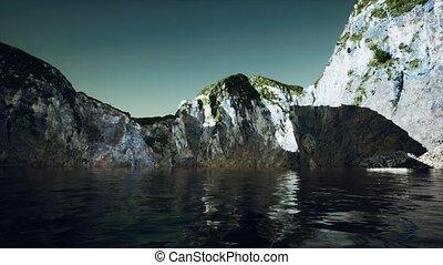 portugal, pierre, falaise, littoral