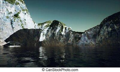 portugal, pierre, littoral, falaise