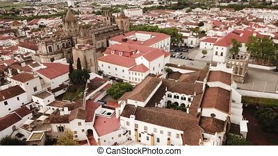 portugal, sommet, evora., vue, ville