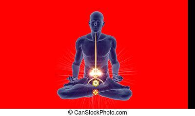 pose yoga, chakras, méditation