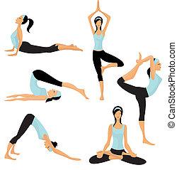 poses, yoga