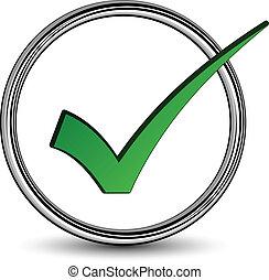positif, checkmark, vecteur