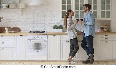 positif, maison, conversation, famille, couple, apprécier, ensemble, agréable, dating.
