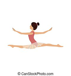 position, danseur, coloré, lance