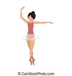 position, danseur, coloré, pirouette, quatrième