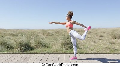 position, femme, yoga
