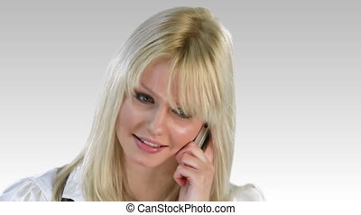 positivité, femme, exprimer, attrative