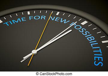possibilités, nouveau, temps