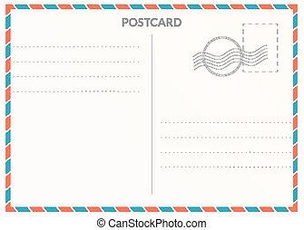 postal, carte, vide
