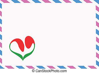 postal, vecteur, enveloppe, illustration
