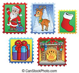 poste, 2, divers, noël, timbres