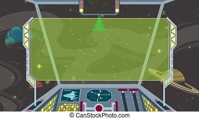 poste pilotage, 2, vaisseau spatial