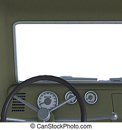 poste pilotage, pick-up, vue
