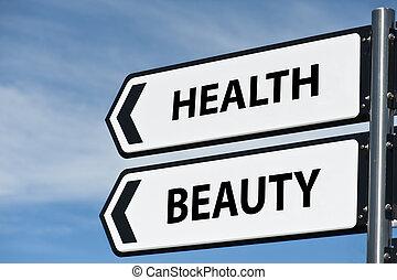 poste, santé, beauté, signe