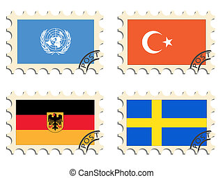 poste, timbres, pays