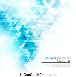 poster., triangles, polygonal, résumé