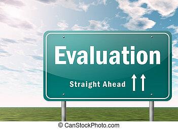 poteau indicateur, évaluation, autoroute