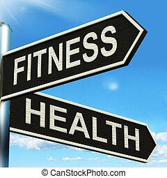 poteau indicateur, travail, bien-être, santé, fitness, spectacles, dehors