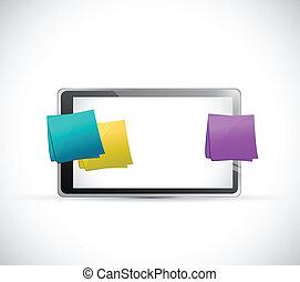 poteaux, conception, multiple, illustration, tablette