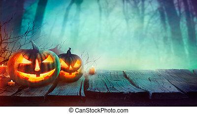 potirons, halloween, conception
