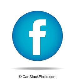 pouce, f, boutonner, vecteur, facebook