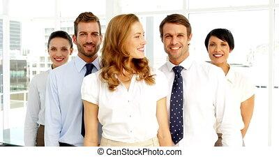 pouces, équipe, business, donner, came