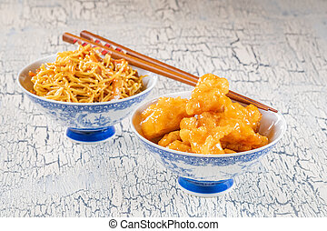poulet, citron, chinois