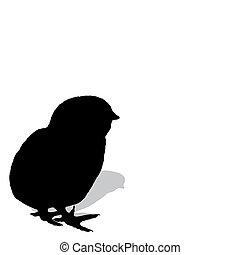 poulet, silhouette