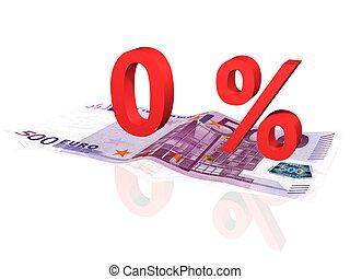 pourcentage, billet banque, euro