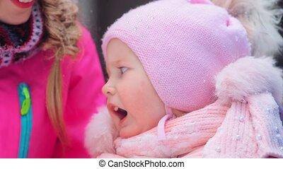 pourparlers, jeune, peu, rigolote, femme, rire, fille