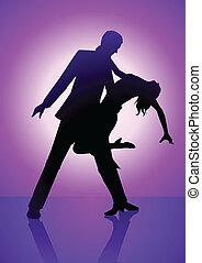 pourpre, danse