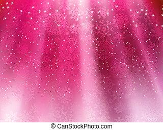 pourpre, eps, vague, snowflakes., fond, 8