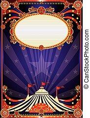 pourpre, fantastique, cirque, fond