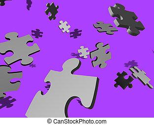 pourpre, puzzle, aléatoire