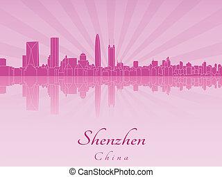 pourpre, radiant, orchidée, horizon, shenzhen