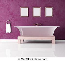 pourpre, salle bains