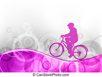 pourpre, vélo