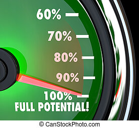 poursuite, but, entiers, atteindre, potentiel, compteur vitesse
