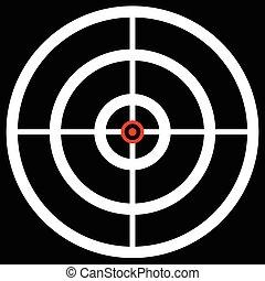 précision, cibler, cible, reticle., chasse, marque, arme feu, réticule, graphiques, concepts., viser