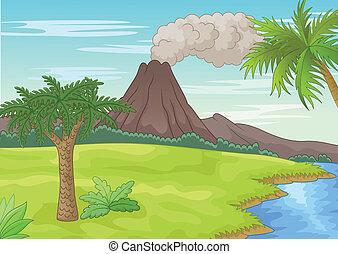 préhistorique, paysage