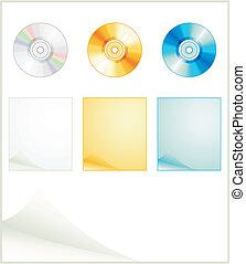 préparation, disks., vecteur, illustration, internet