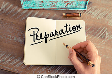 préparation, texte, manuscrit