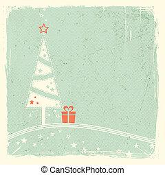 présent, arbre, noël, étoiles