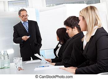présentation, groupe, professionnels