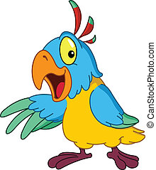 présentation, perroquet