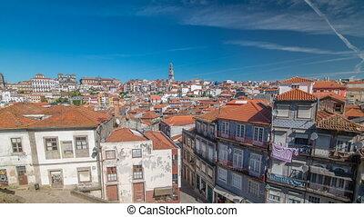 présentation, portugal, timelapse, porto, vieille ville, panoramique