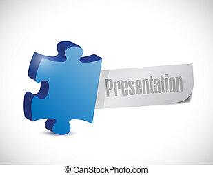 présentation, puzzle, conception, illustration