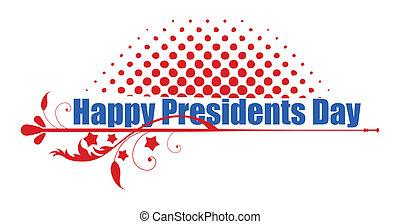 présidents, heureux, jour, salutation, texte