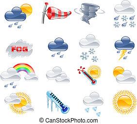 prévisions météorologiques, icônes